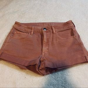 American Eagle Outfitters Shorts Hi-Rise Cuffed
